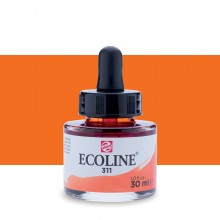 Talens : Ecoline : Liquid Watercolour Ink : 30ml : Vermilion