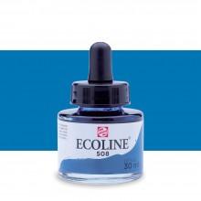 Royal Talens : Ecoline : Liquid Watercolour Ink : 30ml : Prussian Blue