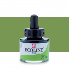Royal Talens : Ecoline : Liquid Watercolour Ink : 30ml : Bronze Green