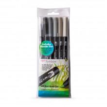 Tombow : Art Dual Blendable Brush Pens : Grey Colours : Set of 6