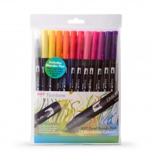 Tombow : Art Dual Brush Pens : Sunset Colours : Set of 12