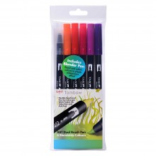 Tombow : Art Dual Brush Pens : Sunset Colours : Set of 6