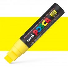 Uni : Posca Marker : PC-17K : Extra Broad Chisel Tip : 15mm : Yellow