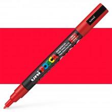 Uni : Posca Marker : PC-3M : Fine Bullet Tip : 0.9 - 1.3mm : Red