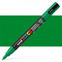 Uni : Posca Marker : PC-3M : Fine Bullet Tip : 0.9 - 1.3mm : Green