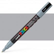 Uni : Posca Marker : PC-3M : Fine Bullet Tip : 0.9 - 1.3mm : Grey