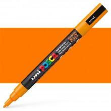 Uni : Posca Marker : PC-3M : Fine Bullet Tip : 0.9 - 1.3mm : Bright Yellow (Orange)