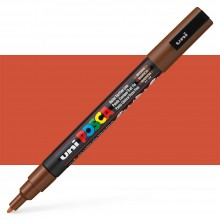Uni : Posca Marker : PC-3M : Fine Bullet Tip : 0.9 - 1.3mm : Brown