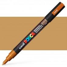 Uni : Posca Marker : PC-3M : Fine Bullet Tip : 0.9 - 1.3mm : Bronze