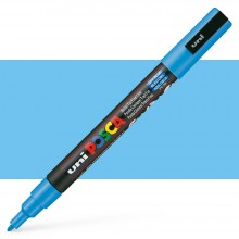Uni : Posca Marker : PC-3M : Fine Bullet Tip : 0.9 - 1.3mm : Sky Blue
