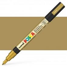 Uni : Posca Marker : PC-3M : Fine Bullet Tip : 0.9 - 1.3mm : Gold