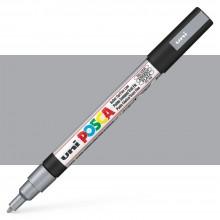 Uni : Posca Marker : PC-3M : Fine Bullet Tip : 0.9 - 1.3mm : Silver