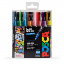 Uni : Posca Marker : PC-3M : Fine Bullet Tip : 0.9 - 1.3mm : Sparkling Set of 8
