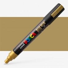 Uni : Posca Marker : PC-5M : Medium Bullet Tip : 1.8 - 2.5mm : Gold