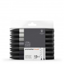 Winsor & Newton : Brush Marker : Set of 12 : Neutral Tones
