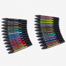 Winsor & Newton : Mixed Marker : Set of 24 in Wallet