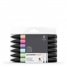 Winsor & Newton : Brush (Pro)Marker : Set of 6 : Pastel Tones