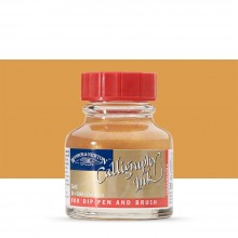 Winsor & Newton : Calligraphy Ink : Non Clogging : 30ml : Gold