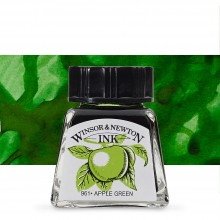 W&N : Drawing Ink 14ml Bottle : Apple Green : (water resistant)