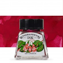 Winsor & Newton : Drawing Ink 14ml Bottle : Crimson : (water resistant)