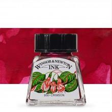 Winsor & Newton : Drawing Ink 14ml Bottle : Crimson : (water resistant)