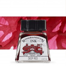W&N : Drawing Ink 14ml Bottle : Deep Red : (water resistant)