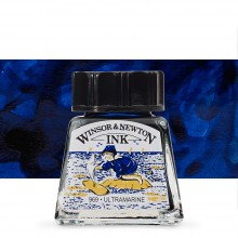 Winsor & Newton : Drawing Ink 14ml Bottle : Ultramarine : (water resistant)