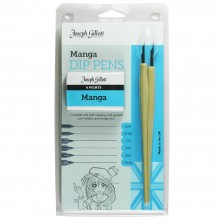 William Mitchell Calligraphy : Joseph Gillott Manga Set : 6 nibs and 2 Pen Holders
