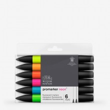 Winsor & Newton : ProMarker : Set of 6 : NeonMarker Set