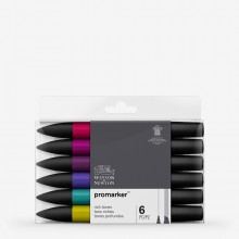Winsor & Newton : ProMarker : Set of 6 : Rich Tones