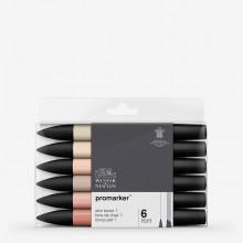 Winsor & Newton : ProMarker : Set of 6 : Skin Tones 1 (Caucasian)