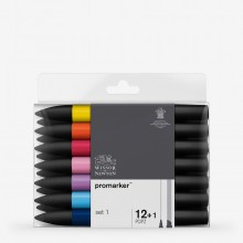 Winsor & Newton : ProMarker : Set of 12 : 1