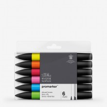 Winsor & Newton : ProMarker : Set of 6 : Vibrant Tones