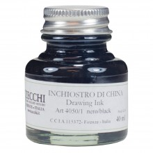 Zecchi : Historic Pigment Drawing Ink : 30ml : Oak Gall Black
