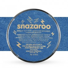 Snazaroo Face Paints Individual Metalic Colours 18ml Electric Blue