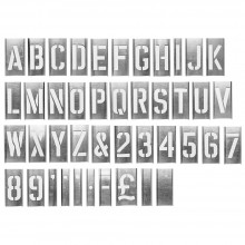 Handover : Interlocking Alphabet/Lettering Stencils in a 76 Piece Set : 3 in