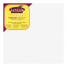 Loxley : Gold : 16mm Standard Bar Stretched Canvas : With Curved Corners : 12inx12in