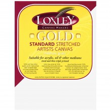 Loxley : Gold : 16mm Standard Bar Stretched Canvas : With Curved Corners : 3inx4in