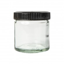 JAS : Empty 60ml Glass Jar with lid