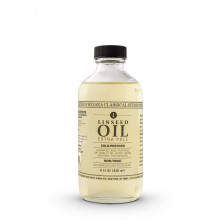 Chelsea Classical Studio : Clarified Extra Pale Cold Pressed Linseed Oil : 8oz (236ml)