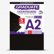 Daler Rowney : Graduate Mountboard A2 : Black : Pack of 5