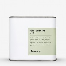 Jackson's : Pure Turpentine 500ml : By Road Parcel Only