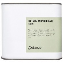 Jackson's : Picture Varnish Matt 500ml : Ship By Road Only
