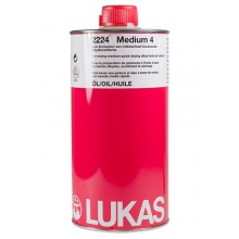 Lukas : Alkyd Medium 4 : 1 Litre : Ship By Road Only