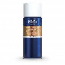 Lefranc and Bourgeois : Extra Fine Retouching Oil Varnish Spray : 400 ml : Ship By Road Only