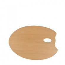 Mabef : OVAL Wooden Palette 30 x 40 cm (3.7mm thick)
