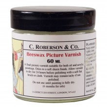 Roberson : Beeswax Picture Varnish : 60ml : By Road Parcel Only