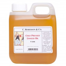 Roberson : Cold Pressed Linseed Oil : 1 Litre
