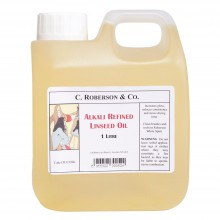 Roberson : Alkali Refined Linseed Oil : 1 Litre