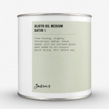 Jackson's : Alkyd Oil Medium : Fast-Drying To Thin Oil Paint : Satin : 1 Litre : By Road Parcel Only
